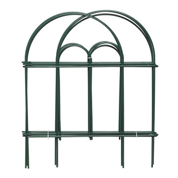 A set of green garden border double round folding fence superimposes together.