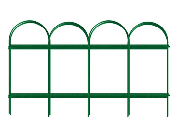 Beau Six Pieces Of Green Garden Edging Wire Border Fence Overlap Together.