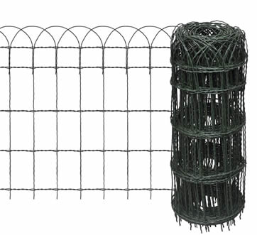PVC Coated Garden Border Fence Anti corrosion