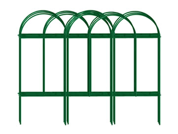 Charming A Set Of Overlapped Green Picket Wire Garden Border Fence.